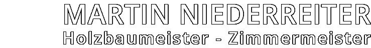 Martin Niederreiter Holzbau